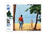 Dr. No, from Left, Sean Connery, Ursula Andress, 1962 Giclée-tryk