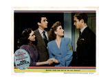 Mrs. Miniver, from Left, Teresa Wright, Walter Pidgeon, Greer Garson, Richard Ney, 1942 Giclée-tryk