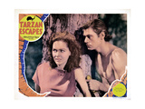 Tarzan Escapes, from Left, Maureen O'Sullivan, Johnny Weissmuller, 1936 Giclee Print