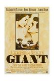 Giant, UU 1996 Re-Issue Poster, from Left: Elizabeth Taylor, James Dean (Bottom), Rock Hudson, 1956 Giclée-tryk