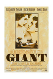 Giant, UU 1996 Re-Issue Poster, from Left: Elizabeth Taylor, James Dean (Bottom), Rock Hudson, 1956 Giclee Print