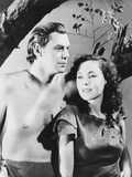 Tarzan Escapes, from Left: Johnny Weissmuller, Maureen O'Sullivan, 1936 Photo