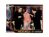 Werewolf of London, from Left, Henry Hull, Valerie Hobson, Warner Oland, 1935 Impressão giclée