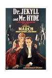 Dr. Jekyll and Mr. Hyde, Rose Hobart, Fredric March, 1931 Giclee Print