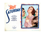 Hot Saturday, from Left: Cary Grant, Nancy Carroll, Randolph Scott (Back to Camera), 1932 Giclee Print