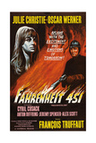 Fahrenheit 451, from Left: Julie Christie, Oskar Werner, 1966 Giclee Print