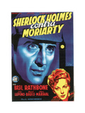 The Adventures of Sherlock Holmes, (AKA Sherlock Holmes Contra Moriarty), Spanish Poster Art, 1939 Giclée-tryk