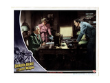 Sherlock Holmes and the Secret Weapon, from Left, Nigel Bruce, Kaaren Verne, Basil Rathbone, 1943 Giclee Print