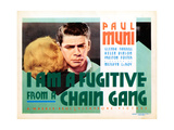 I Am a Fugitive from a Chain Gang, Paul Muni, 1932 Giclee Print