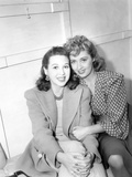 I Want a Divorce, from Left: Gloria Blondell Visiting Her Sister Joan Blondell on Set, 1940 Photo