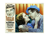 Love Me Tonight, from Left, Jeanette Macdonald, Maurice Chevalier, 1932 Giclee Print