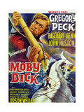 Moby Dick, Gregory Peck on French Poster Art, 1956 Giclee Print