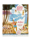 Blue Hawaii, Bottom Center: Elvis Presley on Poster Art, 1961 Giclee Print