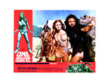 One Million Years, B.C., from Left, Front, Raquel Welch, John Richardson, 1966 Giclee Print
