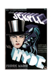 Dr. Jekyll and Mr. Hyde, Fredric March on Swedish Poster Art, 1931 Giclee Print