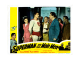 Superman and the Mole Men, from Left: Phyllis Coates, George Reeves, Jeff Corey, 1951 Giclee Print