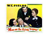 Man on the Flying Trapeze, from Left, Mary Brian, W.C. Fields, Grady Sutton, Kathleen Howard, 1935 Giclee Print