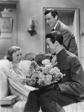 The Shopworn Angel, from Left: Margaret Sullavan, James Stewart, Walter Pidgeon (Rear), 1938 Photo
