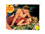 Tarzan Escapes, Johnny Weissmuller, Maureen O'Sullivan, 1936 Giclee Print