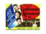 Gentleman's Agreement, from Top, Gregory Peck, Dorothy Mcguire, John Garfield, Celeste Holm, 1947 Giclee Print