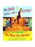 The More the Merrier, Joel Mccrea, Jean Arthur, Charles Coburn on Poster Art, 1943 Giclee Print