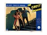 The Ghost Breakers, from Left, Paulette Goddard, Bob Hope, Noble Johnson, 1940 Giclee Print