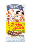 Bikini Beach, Face to Face from Left: Annette Funicello, Frankie Avalon, 1964 Giclée-tryk