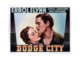 Dodge City, from Left, Olivia De Havilland, Errol Flynn, 1939 Giclee Print