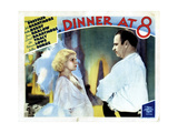 Dinner at Eight, (AKA Dinner at 8), from Left, Jean Harlow, Wallace Beery, 1933 Giclee Print