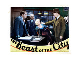 The Beast of the City, from Left: Jean Hersholt, Tully Marshall, Jean Harlow, Walter Huston, 1932 Giclee Print