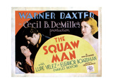 The Squaw Man, from Left: Lupe Velez, Warner Baxter, Eleanor Boardman, 1931 Giclee Print
