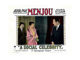 A Social Celebrity, from Left: Chester Conklin, Louise Brooks, Adolphe Menjou, 1926 Giclee Print
