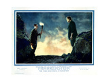 Frankenstein, from Left: Colin Clive, Boris Karloff, 1931 Giclee Print