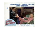 Double Indemnity, Fred Macmurray, Barbara Stanwyck, 1944 Giclee Print