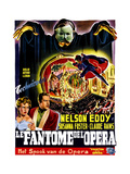 The Phantom of the Opera,(AKA Le Fantome De L'Opera), Belgian Poster Art, 1943 Giclee Print