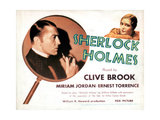 Sherlock Holmes, from Left, Clive Brook, Miriam Jordan, 1932 Giclee Print