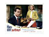 Pitfall, Dick Powell, Lizabeth Scott, 1948 Giclée-tryk