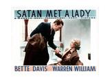 Satan Met a Lady, from Left, Warren William, Bette Davis, 1936 Giclee Print