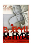 Dr. Jekyll and Mr. Hyde, Fredric March in Swedish Poster Art, 1931 Giclee Print