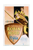 The Adventures of Robin Hood, Poster, from Left: Errol Flynn, Olivia De Havilland, 1938 Giclee Print