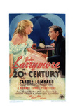 Twentieth Century, from Left, Carole Lombard, John Barrymore, 1934 Giclee Print