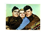 Hell's Angels, from Left, James Hall, Jean Harlow, Ben Lyon, 1930 Giclee Print