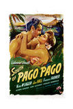 South of Pago Pago, from Left, Jon Hall, Frances Farmer, 1940 Giclee Print