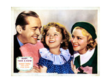 Baby Take a Bow, from Left, James Dunn, Shirley Temple, Claire Trevor, 1934 Giclée-tryk