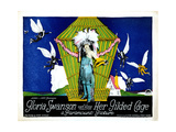 Her Gilded Cage, Center: Gloria Swanson, Title Card, 1922 Giclee Print