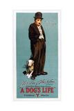 A Dog's Life, Charlie Chaplin, 1918. Giclee Print