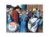 The Lucky Texan, from Left, John Wayne, Barbara Sheldon, 1934 Giclee Print
