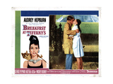Breakfast at Tiffany's,From Left, George Peppard, Audrey Hepburn, 1961 Giclee Print