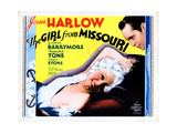 The Girl from Missouri, from Left, Jean Harlow, Franchot Tone, 1934 Giclee Print