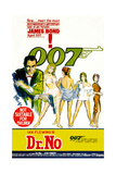 Dr. No, Sean Connery 1962 Giclée-tryk